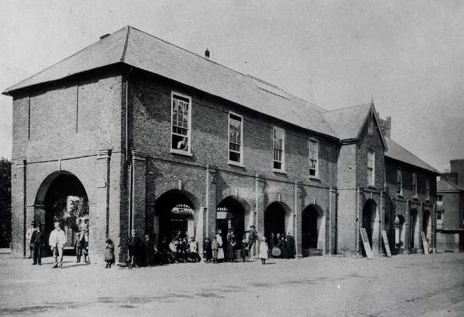 Ludlow Market Hall, 1702, demolished 1887