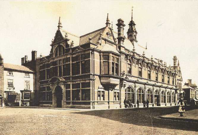 Ludlow Town Hall in 1892, demolished 1986